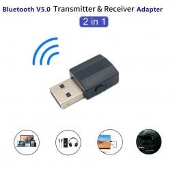 2 in 1 Trasmettitore e ricevitore usb bluetooth V5.0 per auto mp3 pc cuffie tv