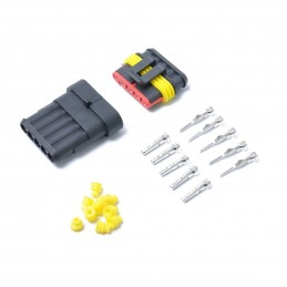 Kit connettore maschio femmina 5 pin IP65 impermeabile per auto barca moto