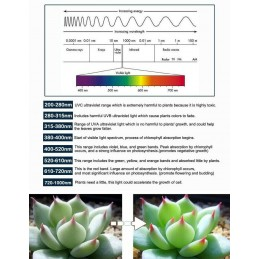 Striscia strip led smd 5050 grow UV per crescita piante idroponica bobina 5 mt