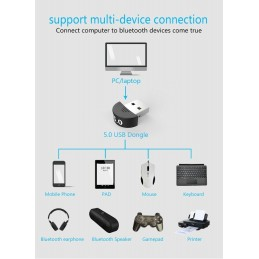 Trasmettitore e ricevitore usb Bluetooth v5.0 per pc notebook desktop laptop