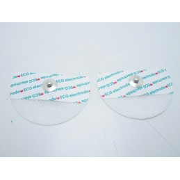 2 Elettrodi adesivi ecg rotondi per elettrocardiogramma cardiofrequenzimetro