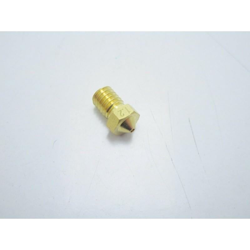 Ugello 1.2mm V6 in ottone per estrusore PLA 1,75mm stampante 3D makerbot reprap