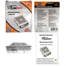 Alimentatore 24v 5A stabilizzato switching 220v 120W