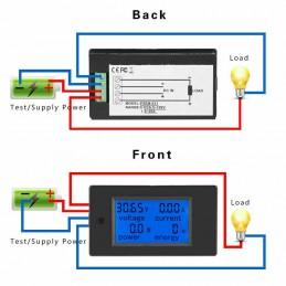 Misuratore di consumo elettrico voltmetro amperometro potenza DC 100V 20A PZEM31