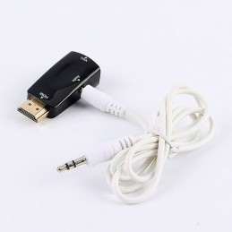 Adattatore convertitore da hdmi full hd a vga con jack audio 3,5mm per tablet tv