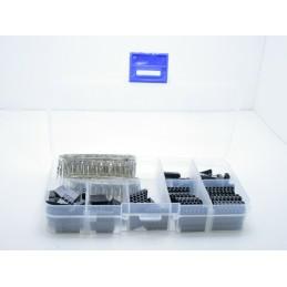 Kit 310 connettori terminali dupont da crimpare 2,54mm femmina da 1 pin a 7 pin