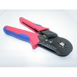 Pinza crimpatrice automatica a cricchetto da 0,25-10 mm² AWG 23-7 per capicorda