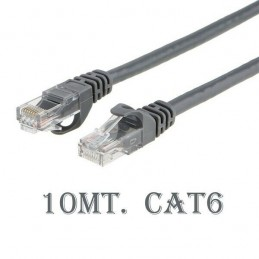 Cavo di rete ethernet Cat 6 10mt RJ-45 per modem router pc
