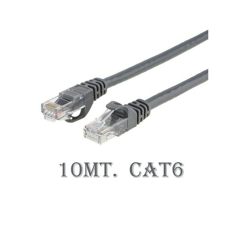 Cavo di rete ethernet Cat 6 10mt RJ-45 per modem router pc