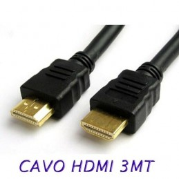 Cavo HDMI HDTV 3 metri per monitor tv pc video
