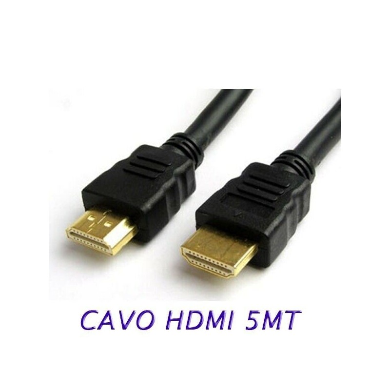 Cavo HDMI HDTV 5 metri per monitor tv pc video