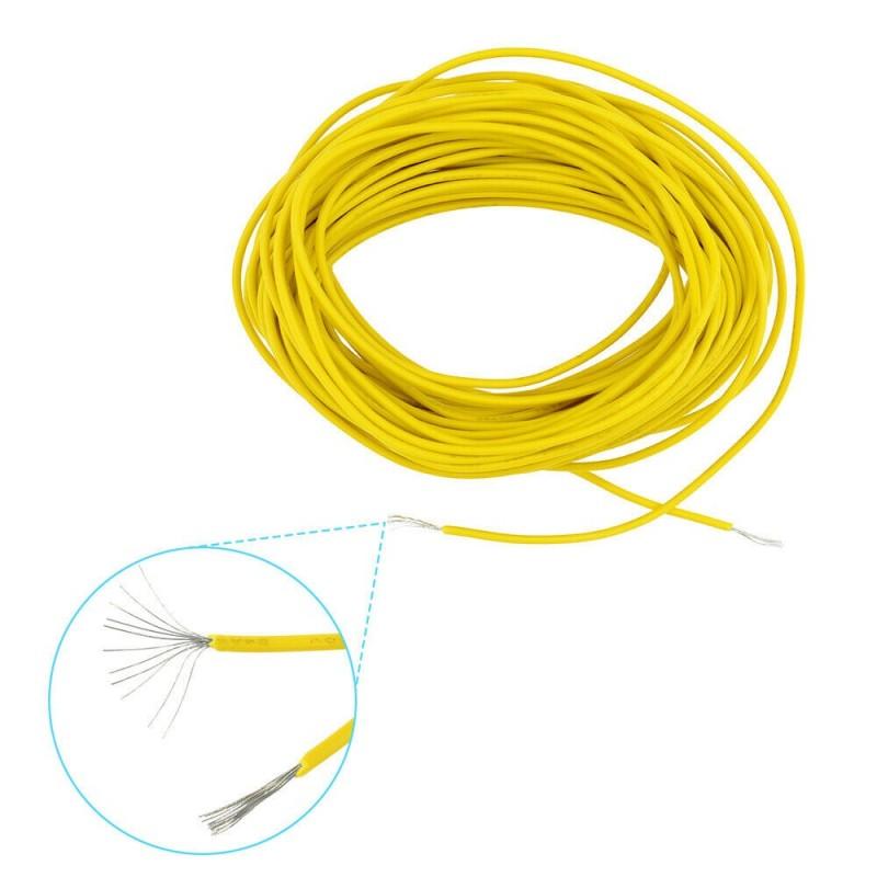 Filo cavo elettrico unipolare UL-1007 24AWG giallo 80C 300V 10 m per elettronica