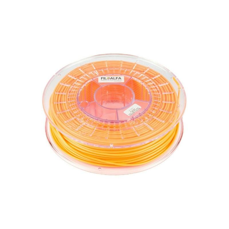 Filamento PLA 1,75mm 700g ARANCIONE FLUO bobina FILOALFA per stampante 3D Ender