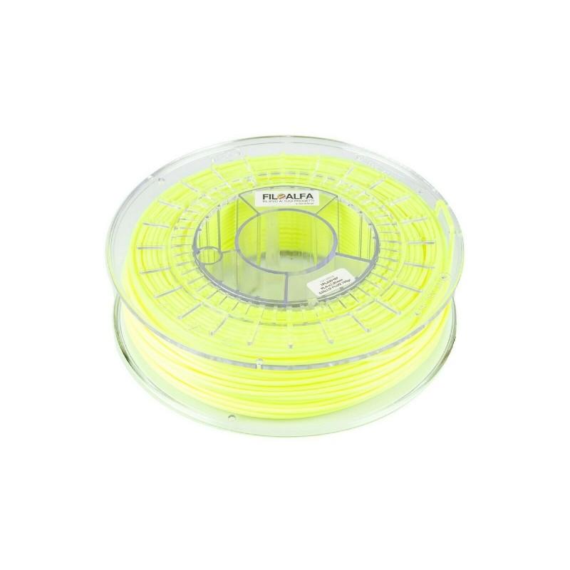 Filamento PLA 1,75mm 700g Giallo Fluo bobina FILOALFA per stampante 3D ender 3