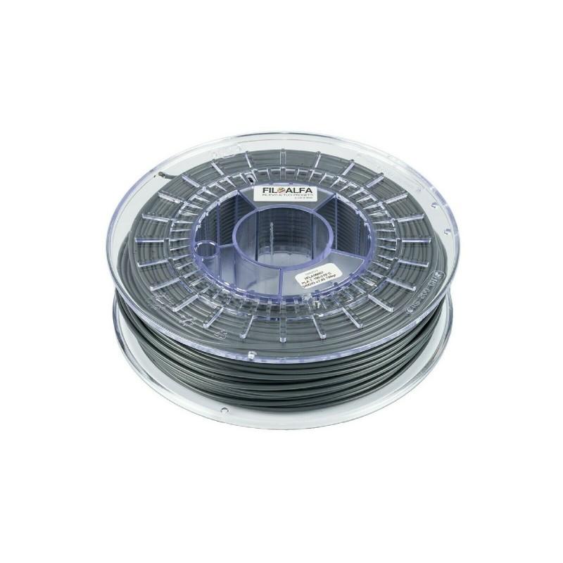 Filamento PLA 1,75mm 700g Grigio bobina FILOALFA per stampante 3D ender 3 prusa