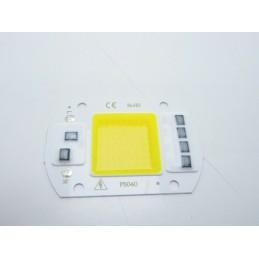 Chip led 50w 220v bianco caldo 60x40 3000k ricambo faretti fari esterni interni