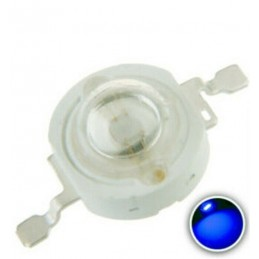 Chip led 1w watt blu 3,2-3,4v 455-460nm 15-25lm 10 pezzi alta luminosità