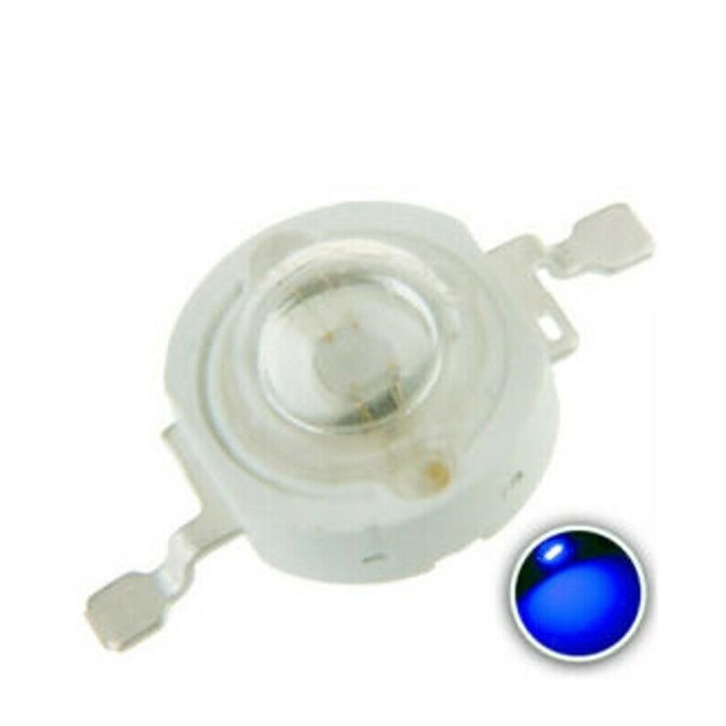 Chip led 1w watt blu 3,2-3,4v 455-460nm 15-25lm 10 pezzi alta luminosità