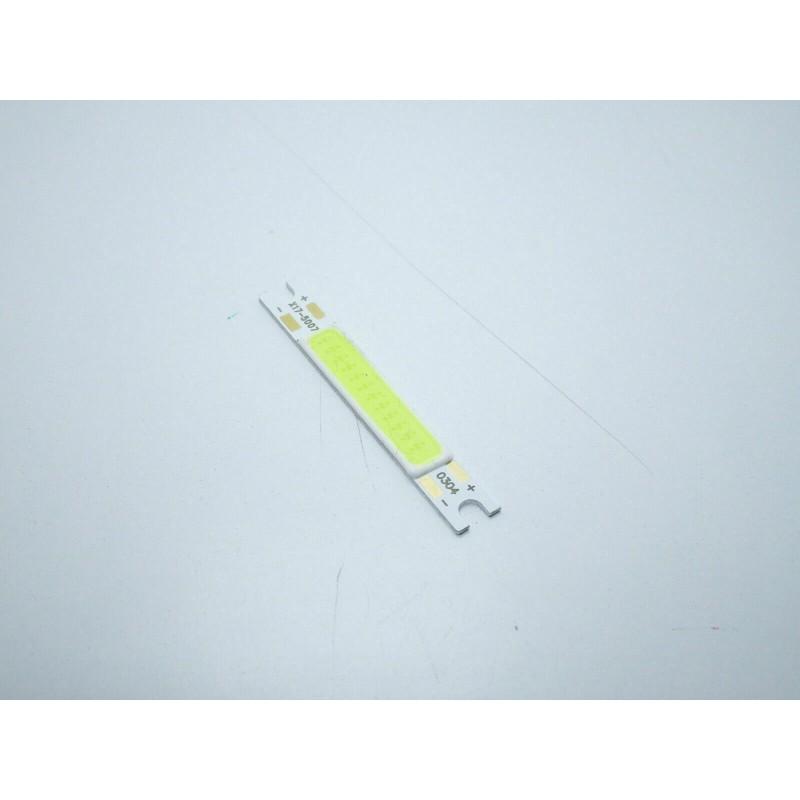 Chip led strip 3w bianco freddo 9-12v 300lm 6500k ricambio faretti 5x7mm