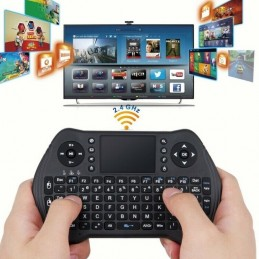 Mini tastiera wireless 2,4Ghz mouse touchpad per pc smart tv android console