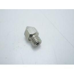 Ugello estrusore 0,4mm acciaio inox filettatura M6 stampante 3d pla abs 1,75mm