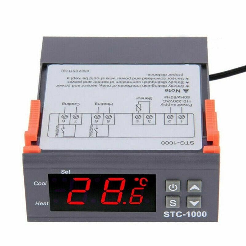 Termostato digitale termoregolatore 220v 10A stc-1000 per controllo temperature