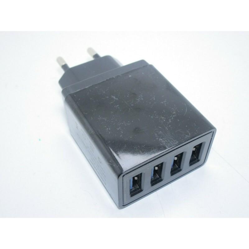 Caricatore usb Caricabatterie a parete muro 4 porte usb 5v 2A fastcharge