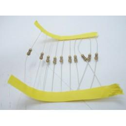 20pz Resistore resistenza a strato di carbone 1/4w 100Ω 100R 0,25w±5% 2,3x6mm