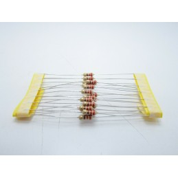 20pz Resistore resistenza strato di carbone tht 1/w 220Ω 220R ±5% 0,25W 2,3x6mm