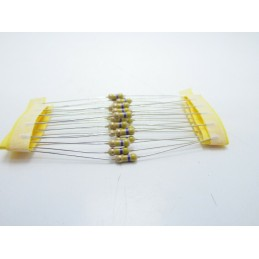 20pz Resistore resistenza strato di carbone tht 1/w 470Ω 470r 5% 0,25W Ø 2,3x6mm