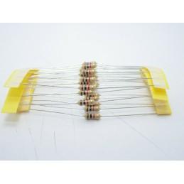 20pz Resistore resistenza strato di carbone tht 1/w 1KΩ 1K ±5% 0,25W Ø2,3x6mm