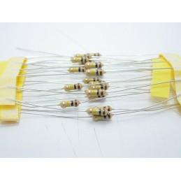 20pz Resistore resistenza strato di carbone tht 1/4w 100kΩ ±5% 0,25W Ø 2,3x6mm