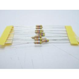 20pz Resistore resistenza strato di carbone tht 1/w 47kΩ 47K 5% 0,25W Ø 2,3x6mm