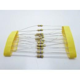 20pz Resistore resistenza strato di carbone tht 1/w 470Ω 470K 5% 0,25W Ø 2,3x6mm