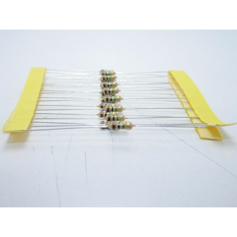 20pz Resistore resistenza strato di carbone tht 1/w 1MΩ 1M ±5% 0,25W Ø 2,3x6mm