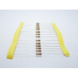20pz Resistore resistenza strato di carbone tht 1/w 10KΩ 10K 5% 0,25W Ø 2,3x6mm