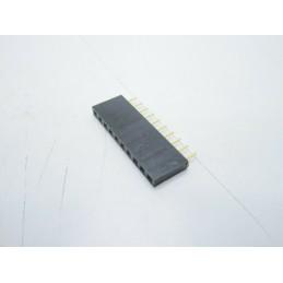 Strip line connettori 10 pin contatti corti dorati per circuiti stampati arduino