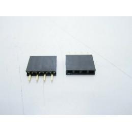 Strip line connettori 4 pin femmina contatti corti per circuiti stampati arduino