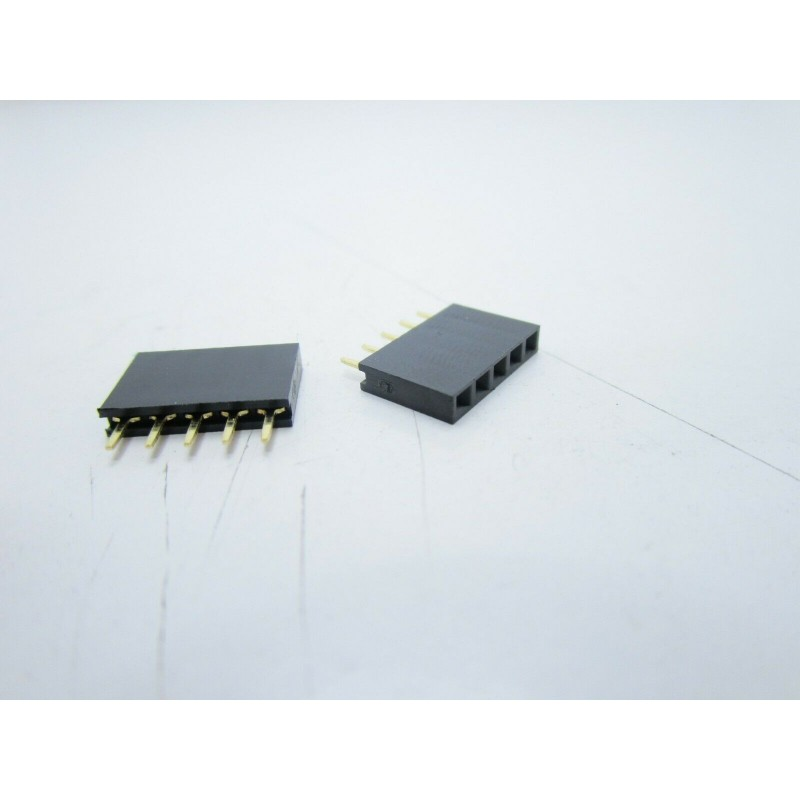 Strip line connettori 5 pin femmina contatti corti circuiti stampati arduino pcb