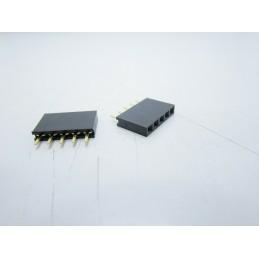 Strip line connettori 6 pin femmina contatti corti circuiti stampati arduino pcb