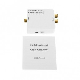 Convertitore audio digitale ottico coassiale ad analogico rca jack 3,5mm cuffie