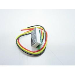 """Mini voltometro lcd led 0,28"""" 3,5v-30v tester da pannello rilevamento tensione"""