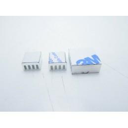 Kit Dissipatore di calore in alluminio adesivi per Raspberry Pi 2 3 4 B+ arduino