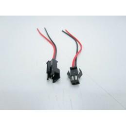 3 Kit connettori cavi jst maschio e femmina passo 2,54mm 22awg 10cm