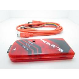 Programmatore Pickit 3 con cavo usb cd per programmazione microcontrollori Pic