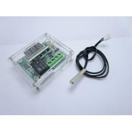 Modulo termostato digitale w1209 con sonda ntc e contenitore in acrilico arduino