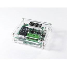 Scatola box contenitore in acrilico trasparente per modulo termostato w1209