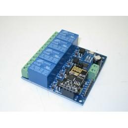 Modulo relè 4ch 5V wireless esp8266 ESP-01 controllo remoto tramite APP Android