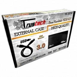 """Case box esterno portatile per hard disk sata 2,5"""" usb 3.0 supporta fino a 2TB"""