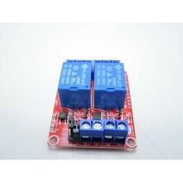 Modulo scheda relè 12v 2ch canali optoisolati per arduino avr dsp arm mcu 5x4cm